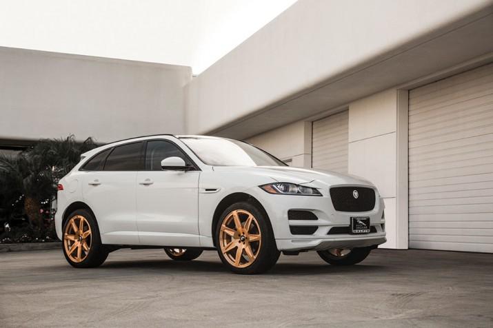 Jaguar F-PACE золотые диски 2016 фото 4