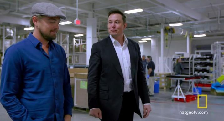 ДиКаприо и Tesla с Элоном Маском