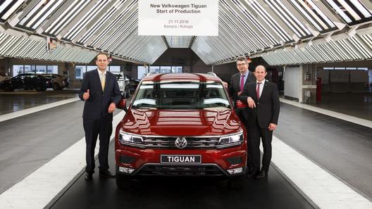 Калуге приступили к сборке Volkswagen Tiguan второго поколения