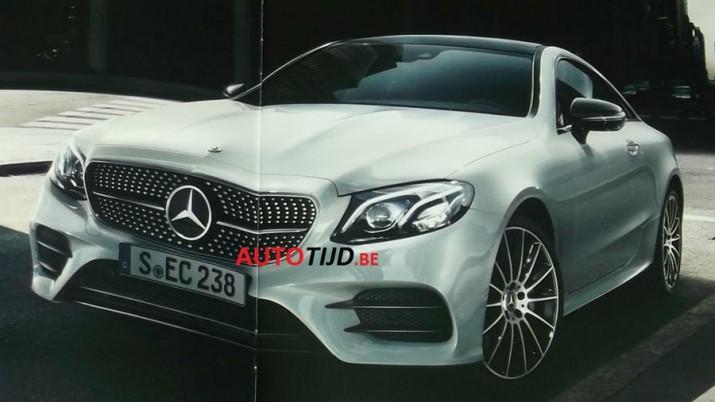 буклетные изображения Mercedes-Benz E-Class Coupe опубликованы в сети