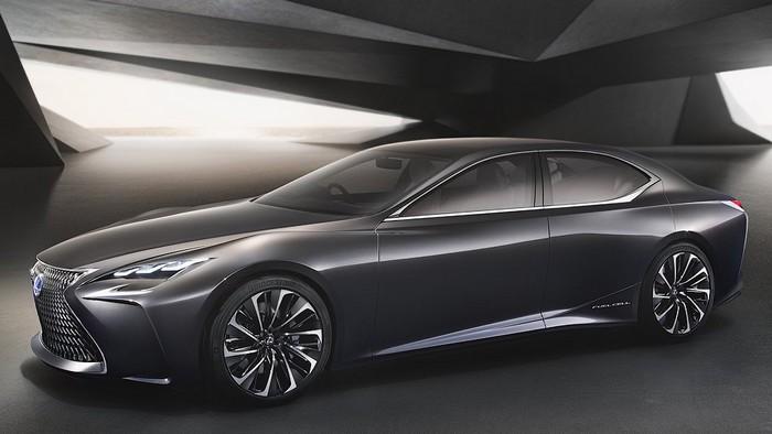 поколение седана Lexus LS показалось на официальном тизере