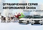 Ограниченная серия автомобилей Skoda только до 31 декабря