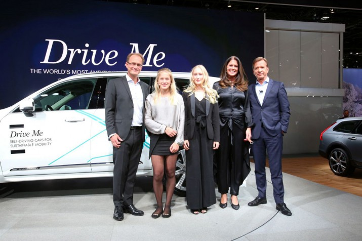 The Hain family and Volvo Cars President & CEO Hakan Samuelsson