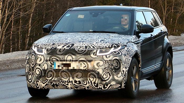 Появились шпионские снимки Range Rover Evoque второй генерации