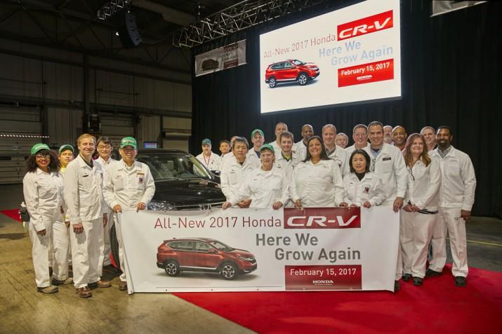 Завод Honda CR-V 2017 США