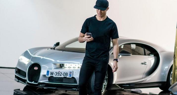 Криштиану Роналду Bugatti Chiron