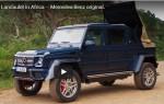 Новый Mercedes-Maybach G650 Landaulet чувствует себя как дома на ухабистых дорогах Африки