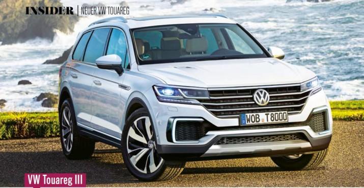Volkswagen Touareg нового поколения впервые появился на снимках без комуфляжа