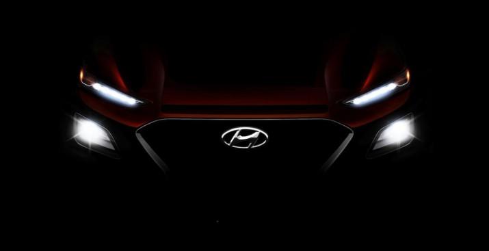 Hyundai показал тизер совершенно нового компактного SUV Kona