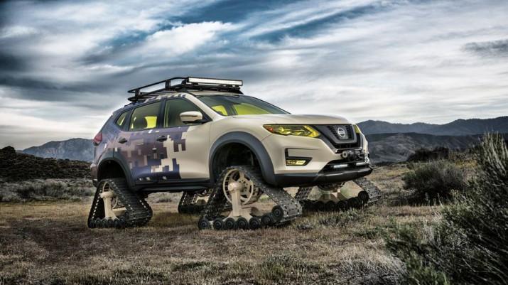 Nissan показал свой первый гусеничный кроссовер Rogue Trail Warior Project