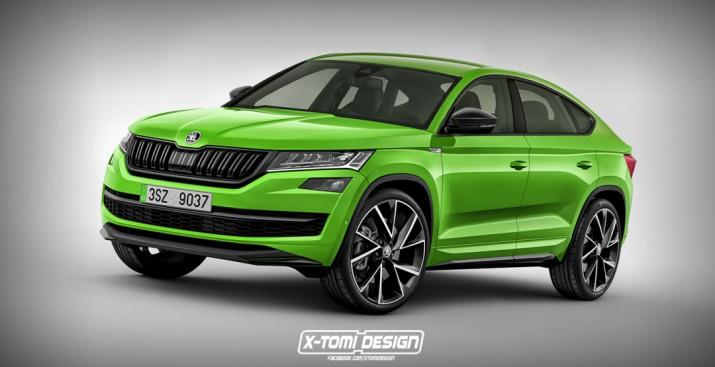 В сети появились дизайнерские изображения нового Skoda Kodiaq Coupe