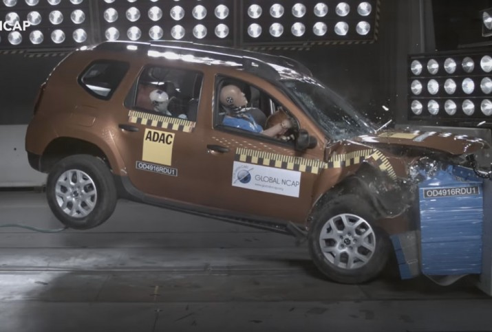 Renault Duster краш тест