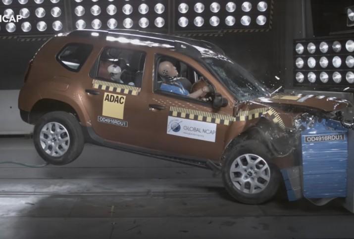 Renault Duster краш тест
