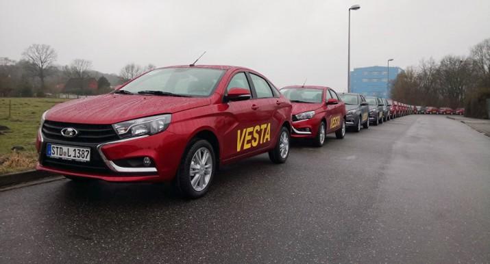 Немецкие дилеры начали продажи седана Lada Vesta
