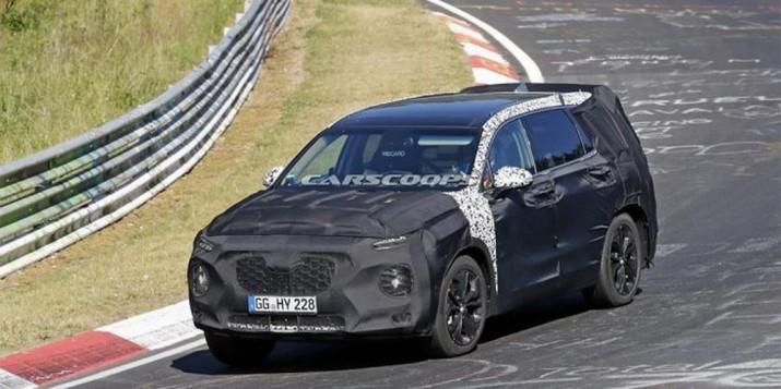 Новая генерация Hyundai Santa Fe проходит тесты в Нюрбургринге