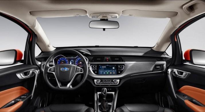 Geely рассекретил интерьер нового SUV Vision X3
