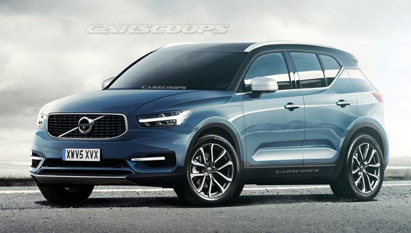 Первые изображения нового Volvo XC40 опубликовали в сети