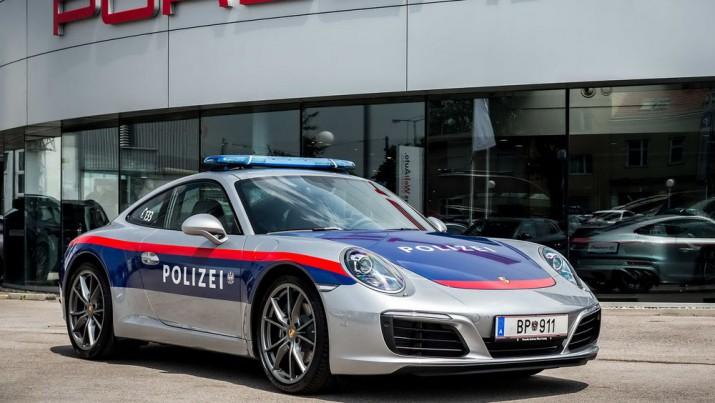 porsche 911 2017 Полиция Австрия Фото 01