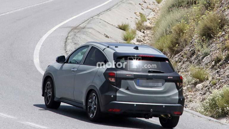 Обновленную Хонда HR-V для Европы впервый раз заметили натестах