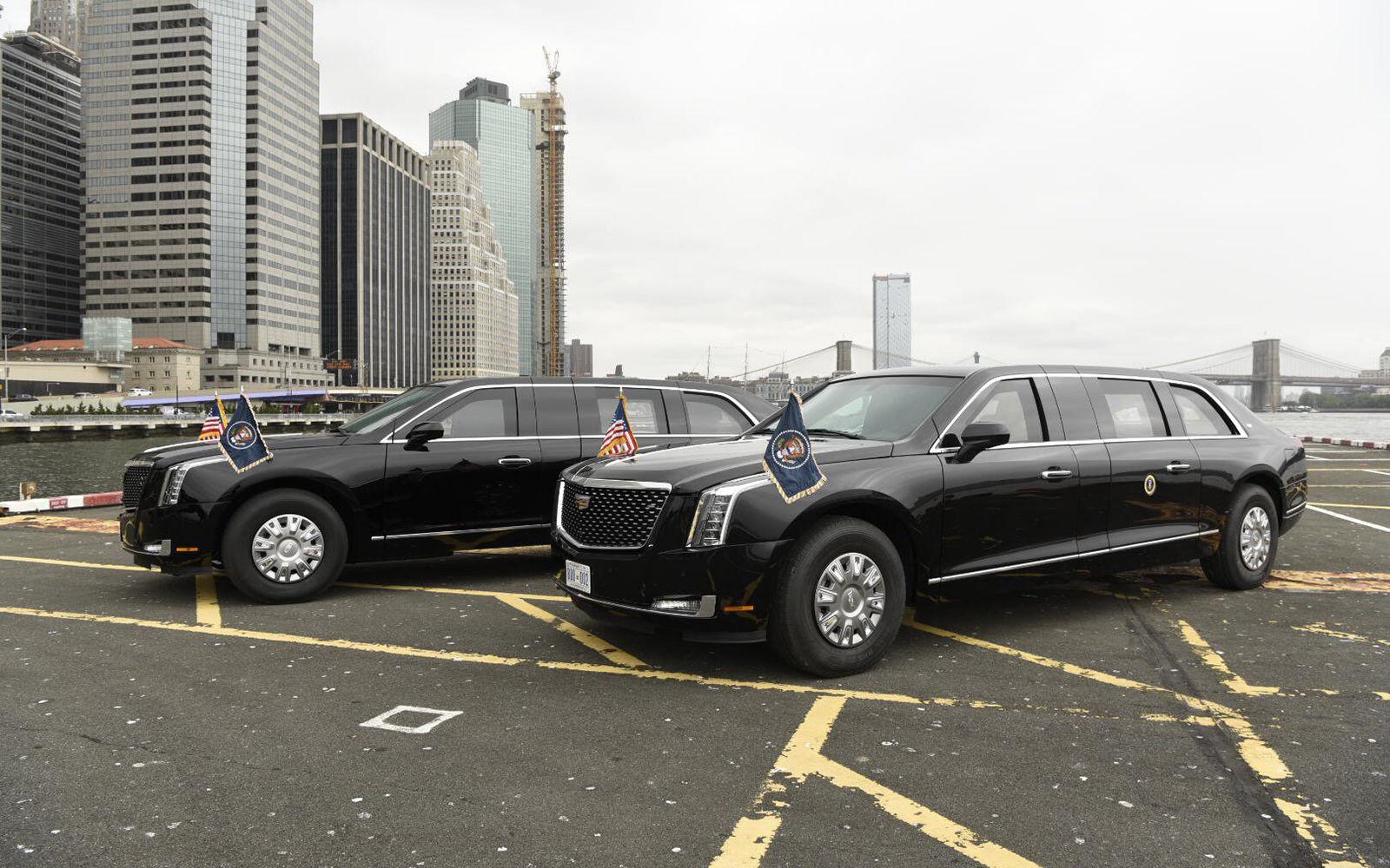 Лимузин Трампа показали на центральной вертолетной станции Манхеттена