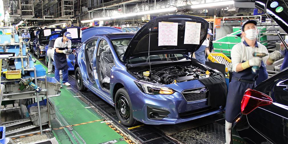 Subaru приостанавливает сборку авто.