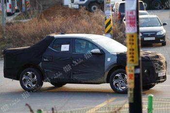 Шпионы сфотографировали пикап Hyundai Santa Cruz во время тестов