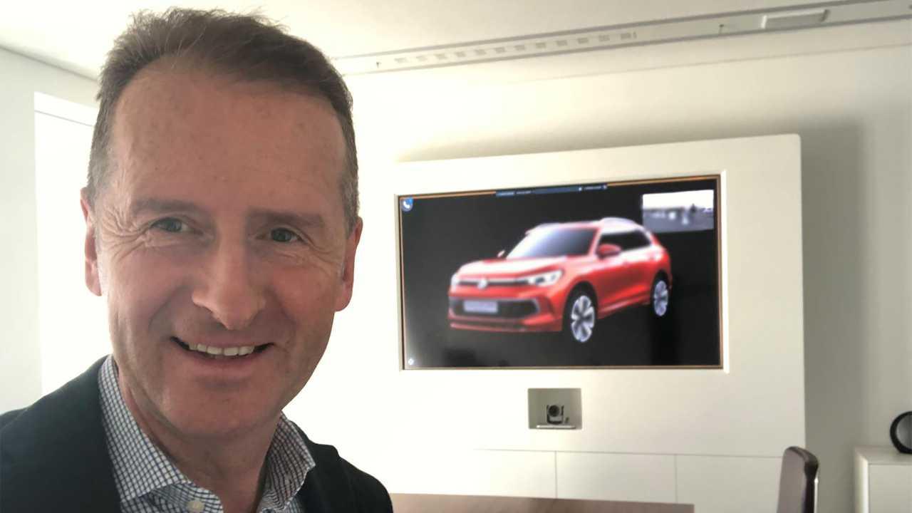 Директор Volkswagen «нечаянно» показал новинку.