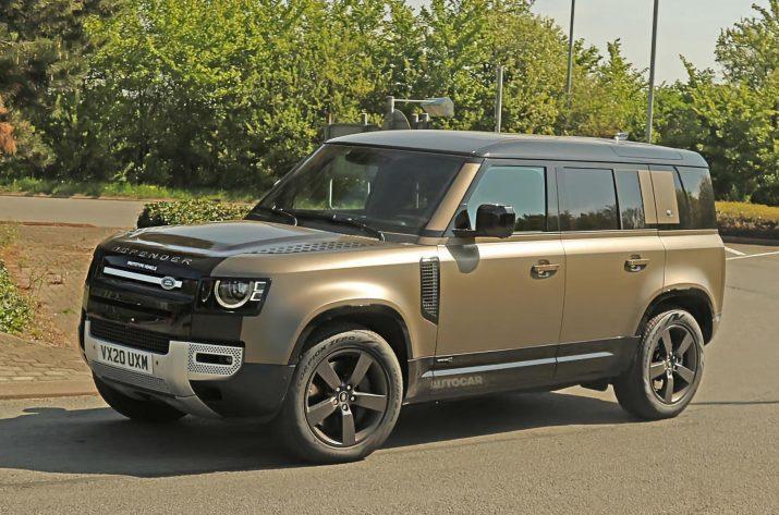 Land Rover начал испытания нового Defender с мотором V8