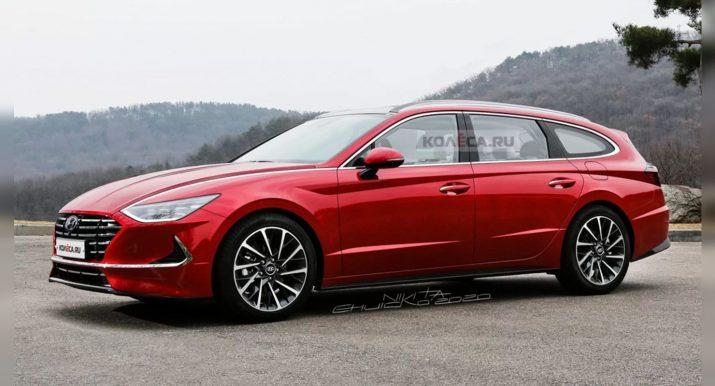 Появились первые снимки нового универсала Hyundai Sonata
