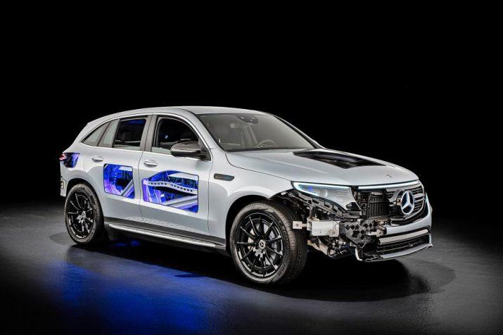 """Электромобиль EQC - """"прозрачный"""" кузов от Mercedes-Benz"""