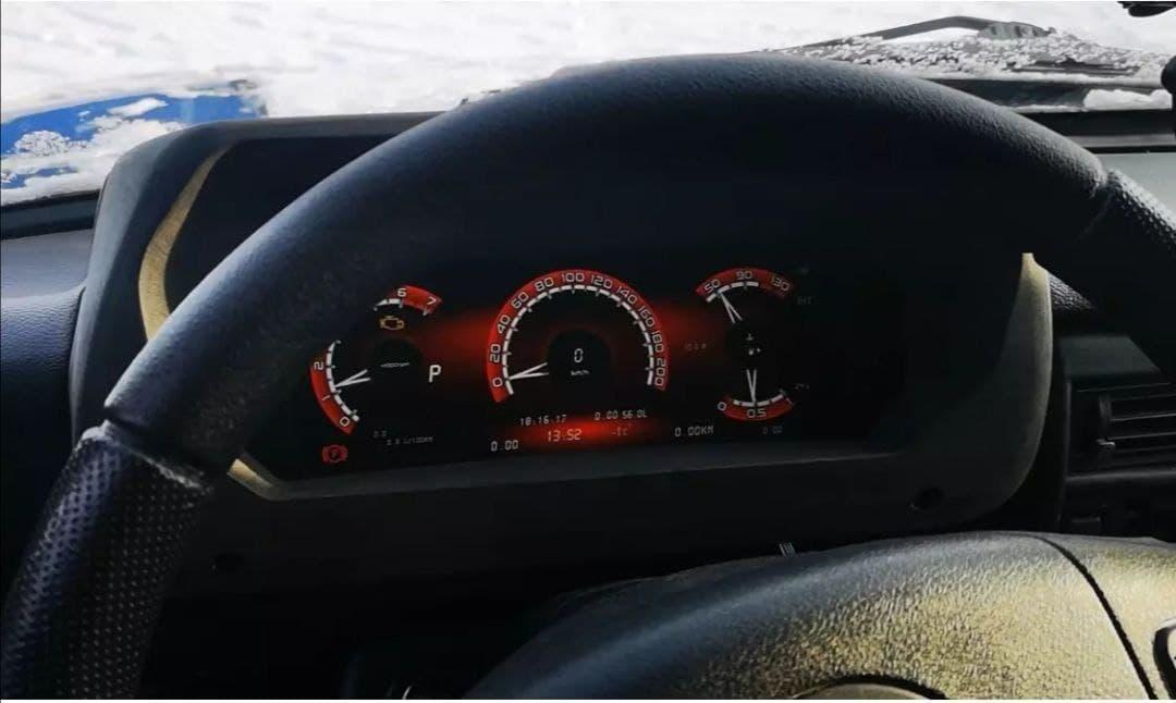 Lada Niva Legend с цифровой приборной панелью продемонстрировали на видео