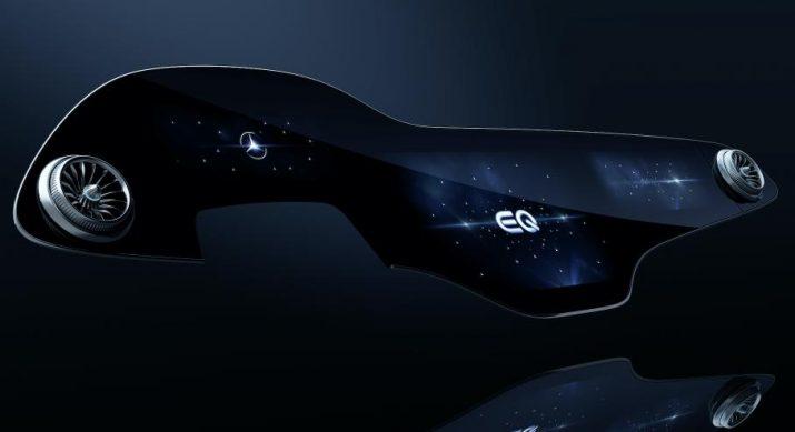 Электро Mercedes обзаведется большим изогнутым дисплеем с искусственным интеллектом