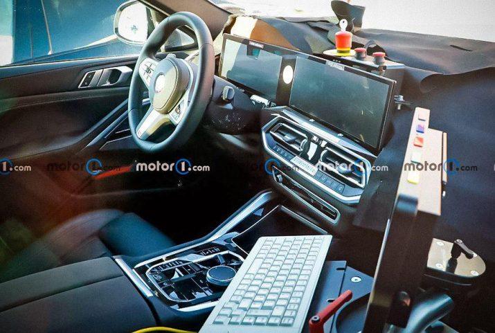 У рестайлингового BMW X6 обновят салон и установят в нем огромные дисплеи подобные Mercedes-Benz