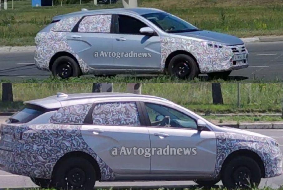 В интернете опубликовали новые снимки модернизированного универсала Lada Vesta