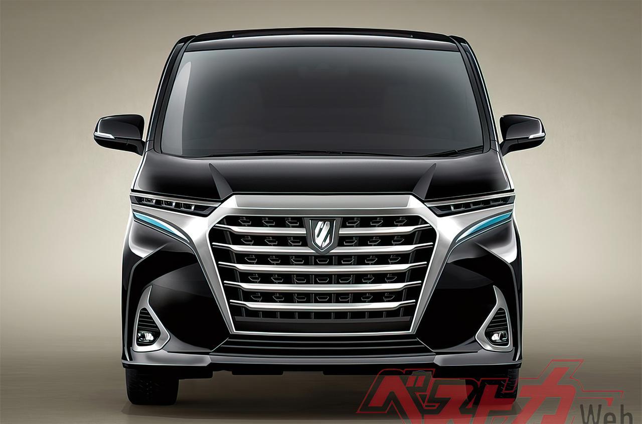 Первые изображения нового Toyota Alphard опубликовали в сети